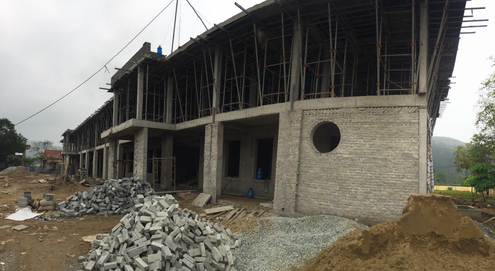 Nhà học 2 tầng 8 phòng và các hạng mục phụ trợ trường mầm non Xuân An