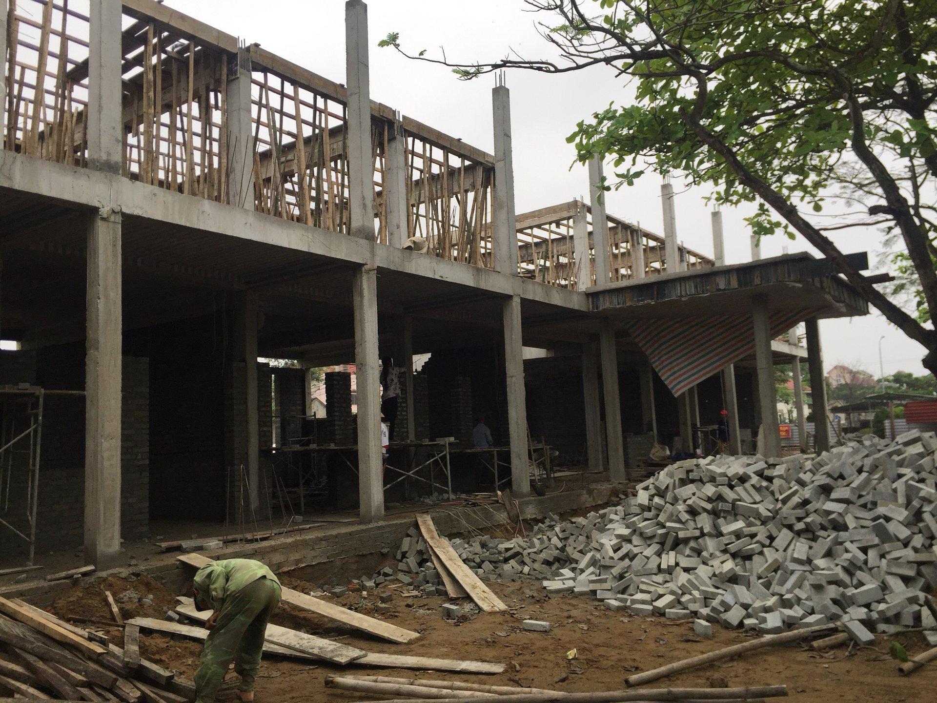 Công trình nhà học 2 tầng 8 phòng trường tiểu học Xuân Liên
